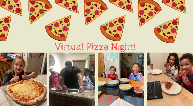 Students Work Together for Pizza Night