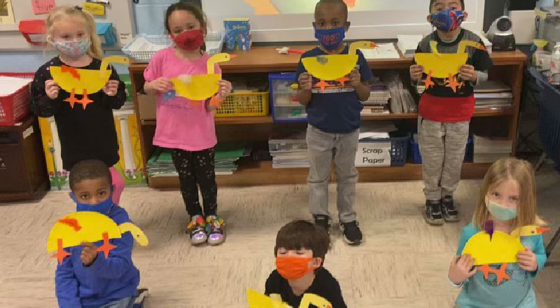 Students Jump Into Spring With 'One Duck Stuck'
