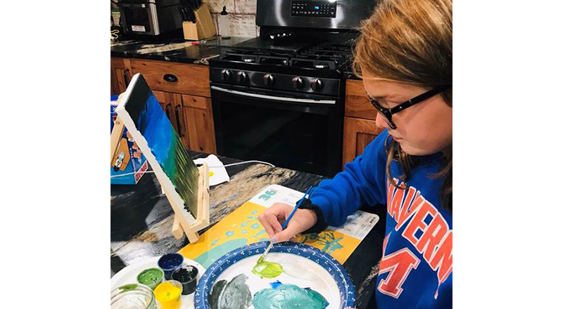 Students Participate in Virtual Paint Night