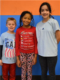 Davison Avenue students Bryanna Williams, Jennifer Rojas and Gabriel Largress