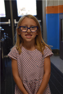 Ella Kelch is a first-grade student at Maurice W. Downing Primary School.