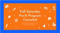 Fall Saturday Pre-K Program Canceled thumbnail176172